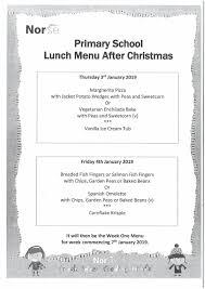 Weekly Menu For One Lunch Menu Langham Village School