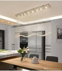 luxury modern wave crystal chandeliers lighting rain drop k9 crystal ceiling lamp for dining room l39 4 w7 9 h39 4 inch luxury led crystal ceiling lights