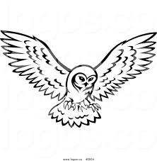 white owl logo. royalty free vector of a logo black and white owl in flight