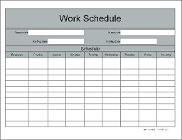 daily work schedule templates daily work schedule template excel employee
