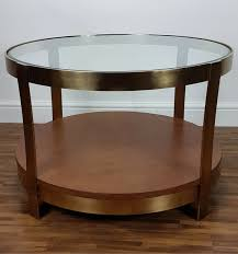morton round coffee table front view