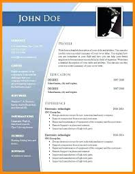 It Resume Format Download In Word Cv Templates Free Download Word Document Resume Template In Format