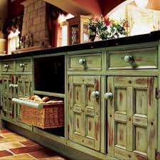 rustic painted cabinets. Distressed Finishlayered Colors And Spattered Dark Paint When The Is Dry You Can Distress Finish By Hitting It With Chain Lightly Sanding Rustic Painted Cabinets