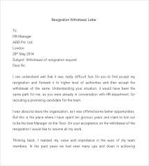 Rescind Letter Of Resignation Rescind Letter Of Resignation Retraction Price Template Job Offer