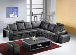 leather sofa sets. Beautiful Sofa 3330 Modern Black Leather 4 Piece Sectional Sofa Set Inside Sets