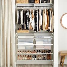 reach in closet systems. Brilliant Systems White Elfa 4u0027 ReachIn Closet With Reach In Systems O