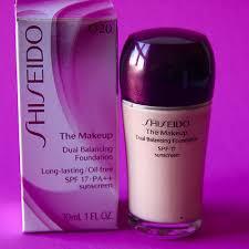 shiseido the makeup dual balancing foundation o 20 natural light ochre spf 17