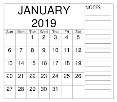Monthly Calendar Schedule January 2019 Monthly Calendar Schedule Template Printable Calendar