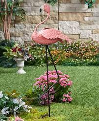 outdoor garden decor. metal-bird-planters-peacock-flamingo-outdoor-garden-yard- outdoor garden decor