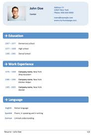 Resume Template Word 2013