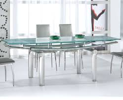 modern glass dining room tables. Dining Room : A Gorgeous Long Table With Luxurious Glass Top, Metal Skirt And Legs In Futuristic Style Including Chairs, Modern Tables S