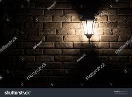The Brick Lighting Light Night Lighting Lamp On Brick Stock Photo Edit Now