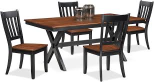 Nantucket Trestle Table And 4 Slat Back Chairs American Signature