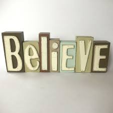 details about believe individual wooden letters decoration wood block sign shabby chic