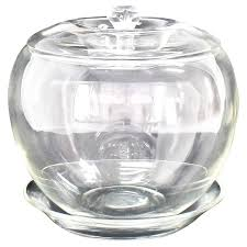 elsa petretti for tiffany large glass apple jar with lid and dish for