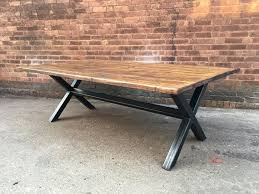 reclaimed industrial chic 10 12 seater solid wood and metal