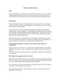 Sample Of Synthesis Essay Sample Synthesis Paper Format