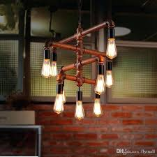 industrial vintage wrought iron pendant lights and antique bar