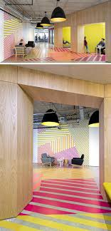 designs ideas wall design office.  design interior design idea  this colorful bold pattern wraps around from the wall  to floor in designs ideas office