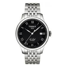 mens tissot watches fraser hart jewellers official stockists tissot le locle automatic men s black dial stainless steel bracelet watch