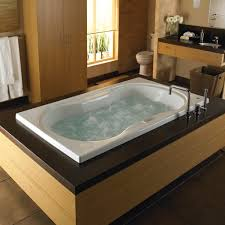 ... Bathtubs Idea, Whirlpool Jetted Tub 2 Person Jacuzzi Tub Indoor  Stunning Modern Wooden Built In ...