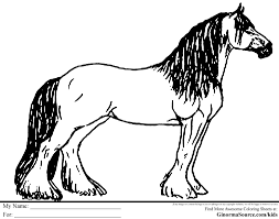 Small Picture Clydesdale Horse Color SheetHorsePrintable Coloring Pages Free