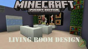 Minecraft Living Room Designs How To Make A Living Room Design Minecraft Pocket Edition Youtube