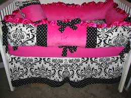 excellent baby nursery room design with black and white crib baby bedding astounding girl baby