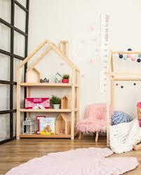 Interior Design Kids Bedroom Stunning Kids Bedroom House Shaped Shelf Or Wooden House Shelf Nursery Etsy