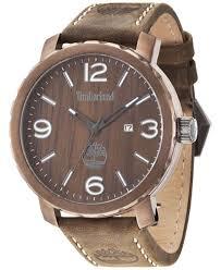 timberland men s pinkerton brown leather strap watch 50x56mm timberland men s pinkerton brown leather strap watch 50x56mm tbl14399xsbn12