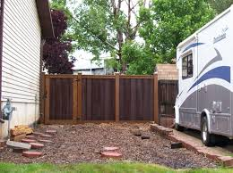 ... Cool Picture Of Garden Decoration Using Unique Privacy Garden Fence :  Attractive Picture Of Backyard Garden ...