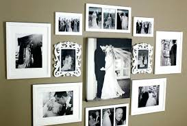 8 build a black white spread family photo wall decor ideas full size