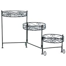 ... Fabulous 3 Tier Plant Stands For Your Outdoor And Indoor Garden :  Astonishing Round Black Iron ...