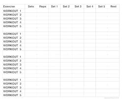 Workout Routine Spreadsheet Template Excel Sakusaku Co