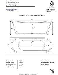 standard clawfoot tub width bathtub