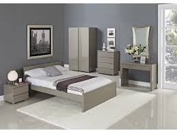 White King Bedroom Set Black Furniture Gloss Drawers And | WATACCT