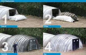 Concrete Canvas shelter deployment