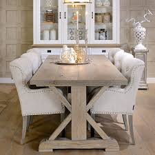 hoxton rustic oak trestle dining table modish living dining table