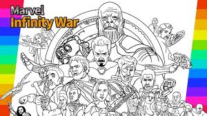 Coloring Pages Thanos From Marvel Avengers Infinity War Coloring