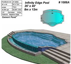Negative edge pools Pond The Official Website Of Poolbooknet 1006a Negative Edge Pool Build