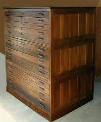 vintage flat file cabinet map storage chest antique flat file cabinet full image for vintage wood