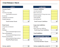 Simple Balance Sheet Excel 5 Simple Balance Sheet Template Bookletemplate Org