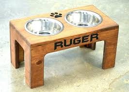 diy dog bowl stand dog bowls and stands pet bowl stand homemade dog bowl stand