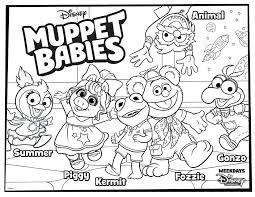 Baby mickey, baby minnie and baby daisy duck feature in these 3 disney coloring pages that are free for you to print and color. Muppet Babies Coloring Page For Your Kids Disney Family