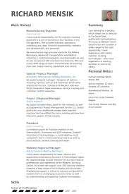 Manufacturing Engineer Resume Sample Manufacturing Engineer Resume samples - VisualCV resume samples database