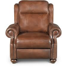 coffee bean brown leather power recliner hancock rc willey furniture