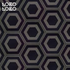 dark hexagonal ceramic pattern adhesive vinyl floor