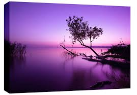 extra large purple lake box canvas wall art picture scenic