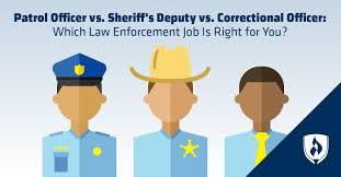 Patrol Officer Vs Sheriffs Deputy Vs Correctional Officer