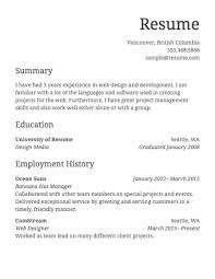 Simple Job Resume Template Adorable Basic Work Resume Template Simple Job Sample Systematic See Resume